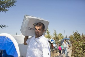 As they deliver supplies, Samaritan's Purse staff members and ministry partners have opportunities to talk about Christ.