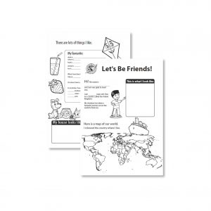 Let's be friends sheet