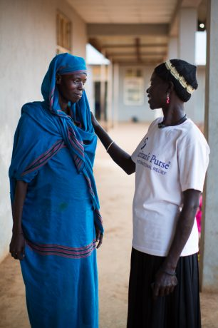 Staff members minister to refugees and others at the Samaritan's Purse-run hospital in Maban County.