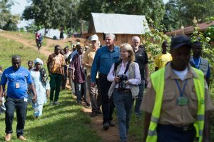 Franklin Graham, Greta Van Susteren, and the Samaritan's Purse staff members came to observe some of our projects in the Foya area