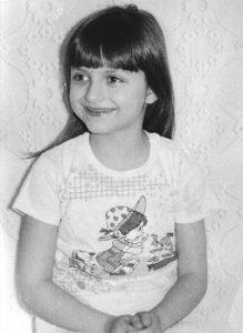 Dana as a child