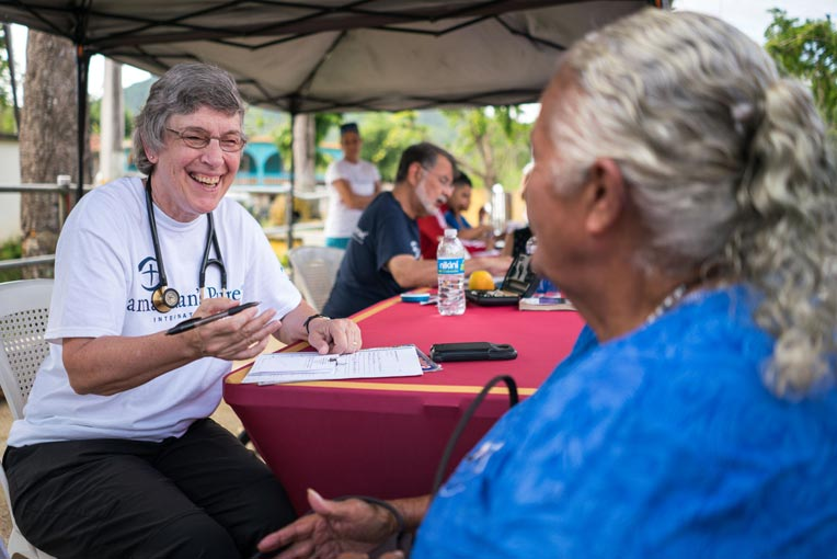 Julie Baker brought a smile and the love of God to conversations with patients.