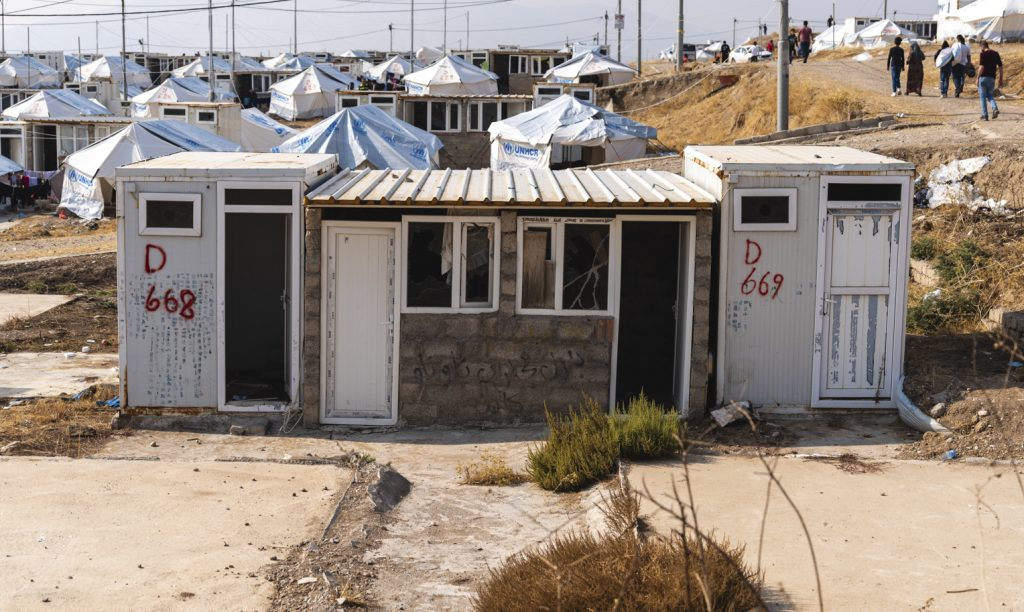 Many of Bardarash camp's bathrooms lacked doors, toilets, and windows until Samaritan's Purse repaired more than 400 of them.