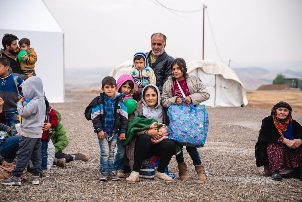 Although their families fled their homes with little possessions, Syrian children now gratefully clutch balloons they received from Samaritan's Purse.