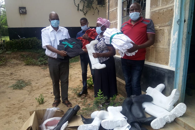 In Kenya we are providing medical centers with personal protective equipment (PPE).