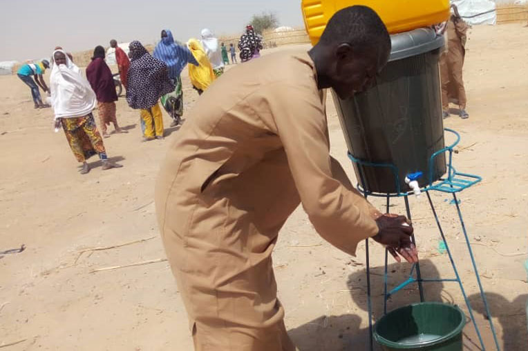 Our teams have set up handwashing stations in Niger's Diffa Region to provide protection against the spread of disease during food distributions.