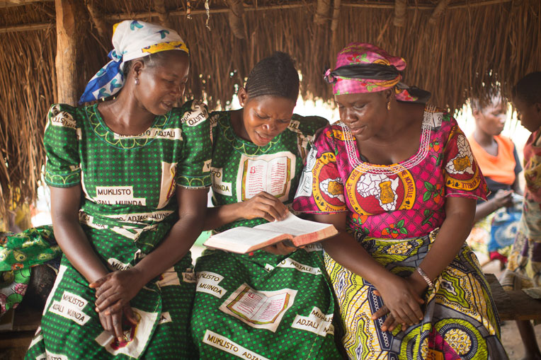 "These women in the Democratic Republic of the Congo find ""Your word was to me the joy and rejoicing of my heart"" (Jeremiah 15:16)."