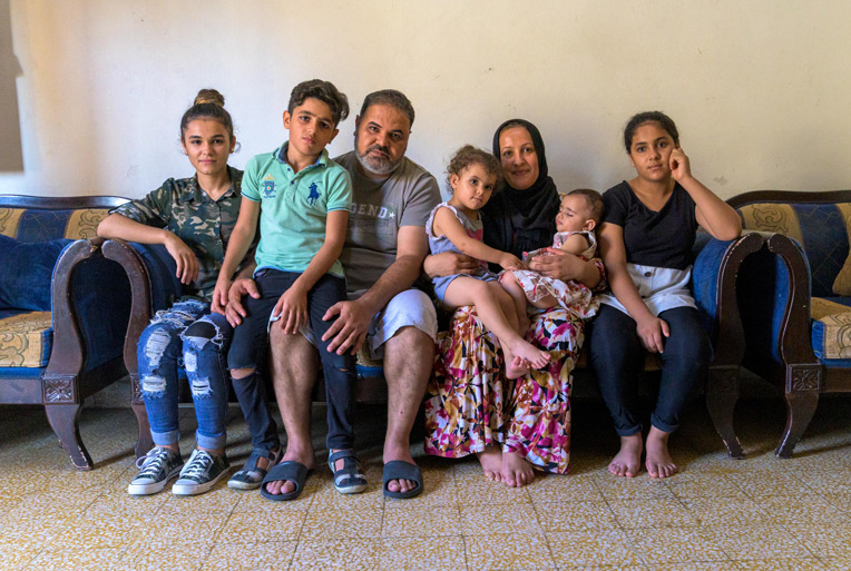 *Rahim, his wife Nazia, and their six children are thankful to be alive and together.