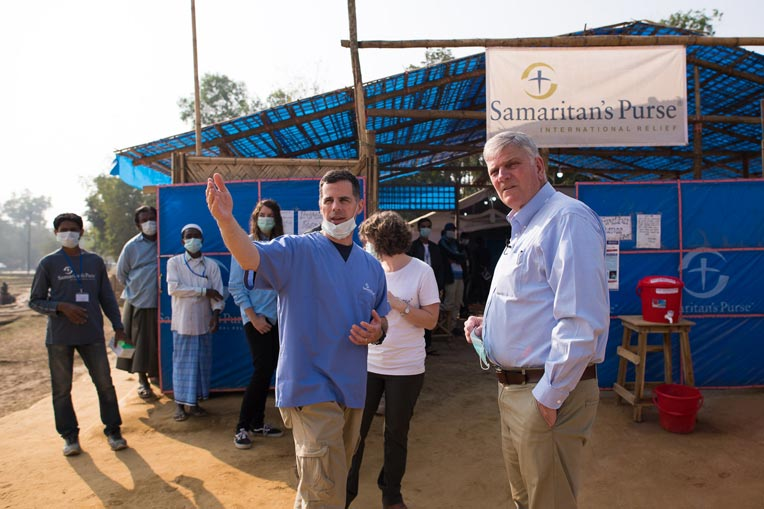 Franklin Graham visited our Diphtheria Treatment Centre in Bangladesh.
