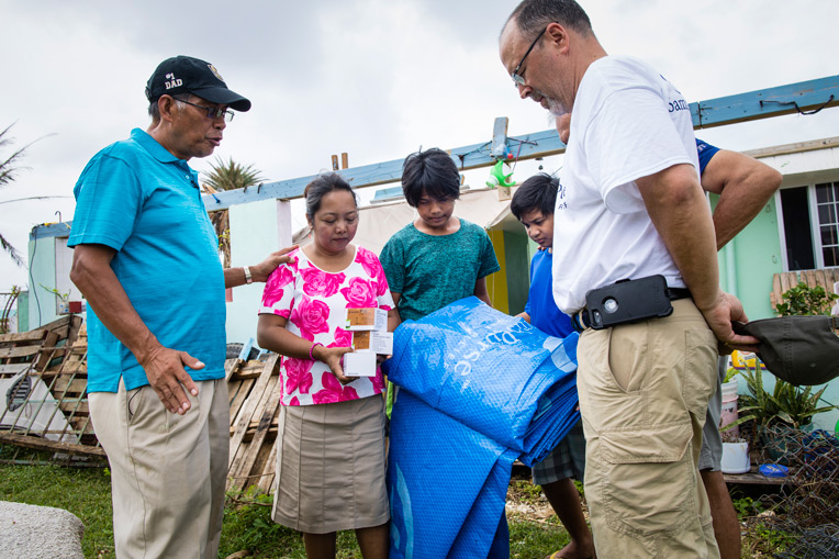 Families across the islands received tarps and solar lights from Samaritan's Purse.