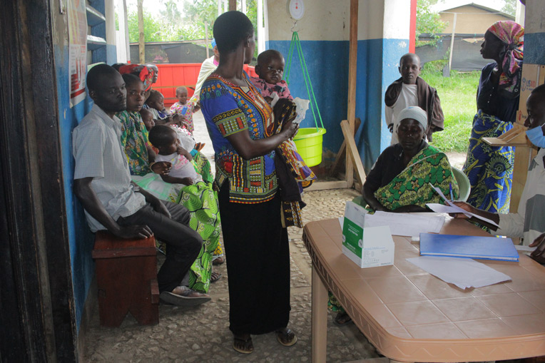 At the Shari Health Center, the staff receives patients from all over the eastern DRC where they've fled their homes and now live in nearby camps.