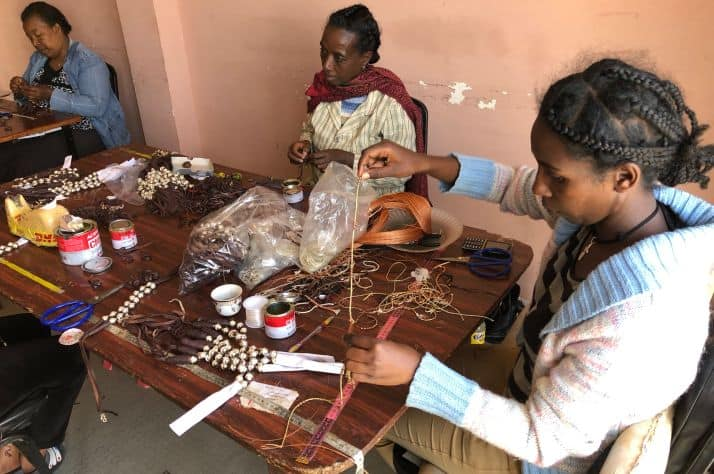 Women at risk learn new job skills, like jewelry making, and receive Biblical counseling. Your support helps empower them never to return to the streets.
